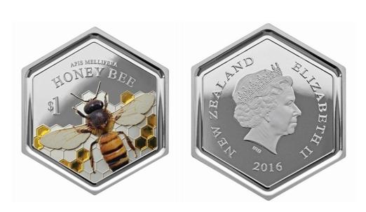 Новая Зеландия, медоносная пчела, выпуск монеты